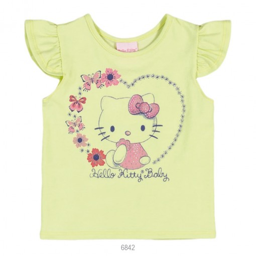Blusa Infantil Bebê Hello Kitty Manga Curta 0850.87271