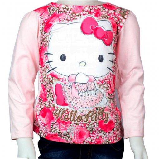 Blusa Infantil Hello Kitty Manga Longa 0802.87154