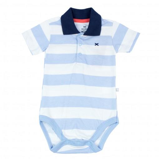 Body Bebê Masculino Hering Kids Listrado Gola Polo 586m2e00