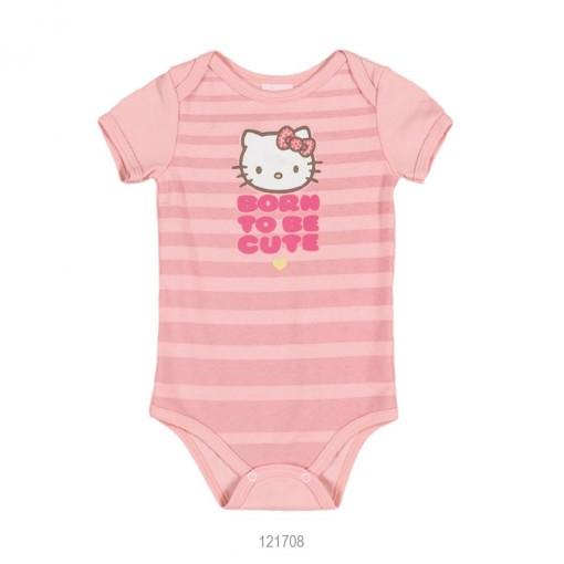 Body Infantil Bebê Hello Kitty Suedine Estampado 0851.87252