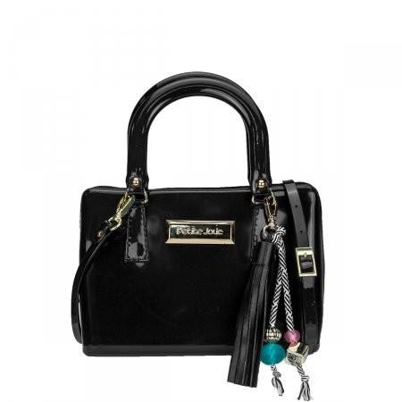 c6c05ba87 Bizz Store - Bolsa Feminina Petite Jolie PVC Mini Bag Preta/Nude