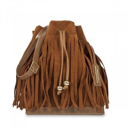 40b1ed5ff Bizz Store - Bolsa Saco Feminina Petite Jolie Shock Camel Franjas