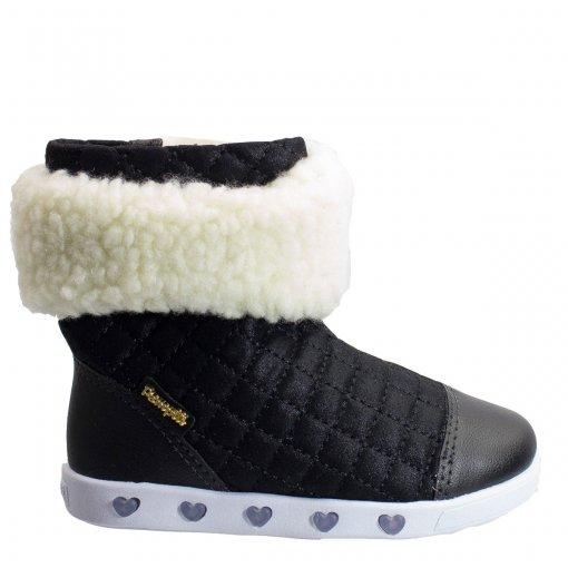Bota Com Luzinha Infantil Pampili Sneaker Pelo Removível 165.025