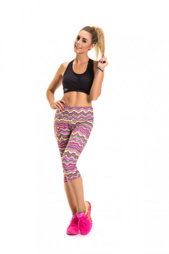 Corsário Feminino Rosa Tatuada Fitness 454801