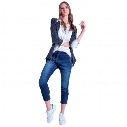 e88834911ea16 Bizz Store - Calça Jeans Jogging Feminina Ana Hickmann Azul