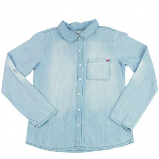 Camisa Jeans Infantil Menina Hering Kids C75ejeklx