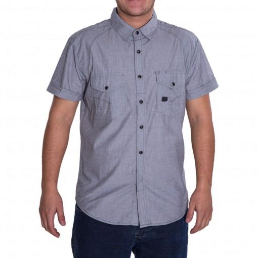 Camisa Masculina Dixie Manga Curta Fio Tinto 15.01.0631