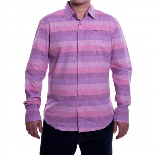Camisa Masculina Dixie Manga Longa Listrada 15.08.0099