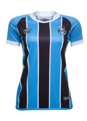 Bizz Store - Camisa Oficial Umbro Grêmio I 2017 Feminina b3fdd23a9211d