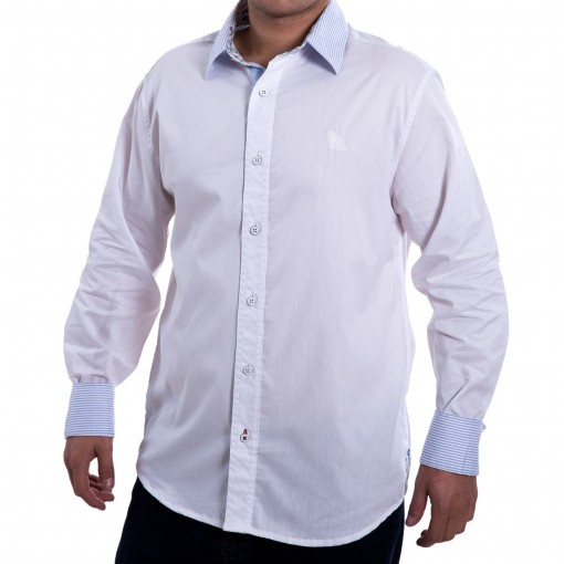 Camisa Social Masculina Acostamento Manga Longa 58101044