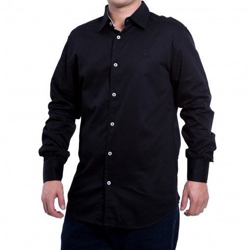 Camisa Social Masculina Acostamento Manga Longa 60101073