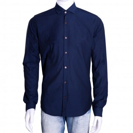 Camisa Social Masculina Acostamento Manga Longa 69101088