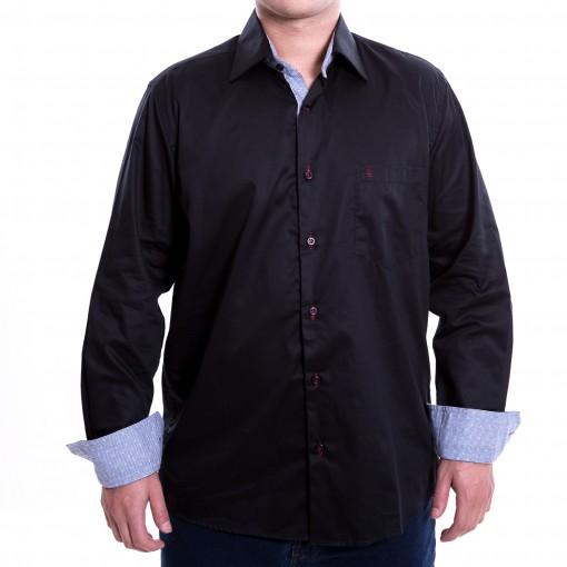 Camisa Social Masculina Luiz Eugenio Fio 80 Clássica 8114