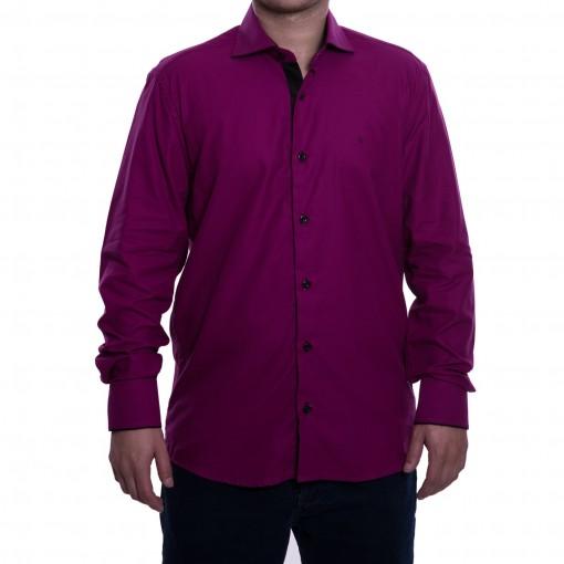 Camisa Social Masculina Luiz Eugenio Slim Comfort Fio 80 8274