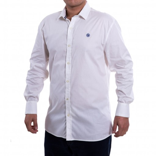 Camisa Social Masculina Mandi Tricoline Lisa Mm34k03ll429
