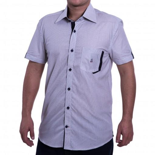 Camisa Social Masculina Porto & CO Slim Fit Fio 60 P023