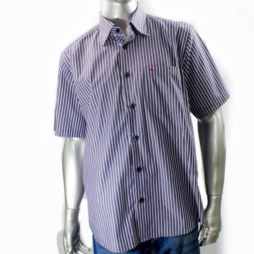 Camisa Social Masculina W.Albann Fio 50 Manga Curta 10073