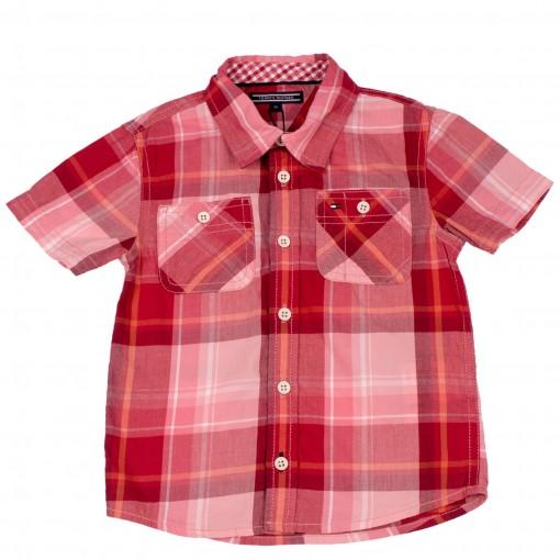 Camisa Xadrez Infantil Bebê Tommy Hilfiger Thklbos29064