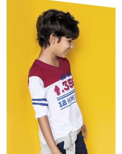 Camiseta Gola V Hering Kids Manga Longa 5c4hnoa10