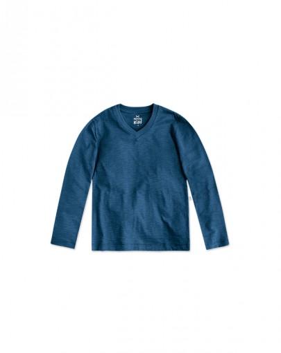 Camiseta Infantil Hering Kids Gola V 5c8waxy07