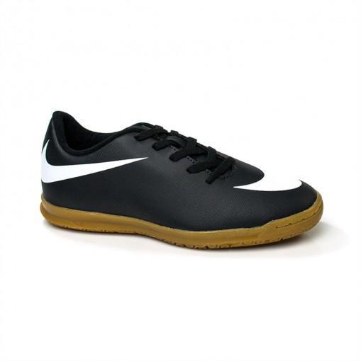 5b7c7094b9950 Bizz Store - Chuteira Futsal Nike Bravata Junior Preta Juvenil