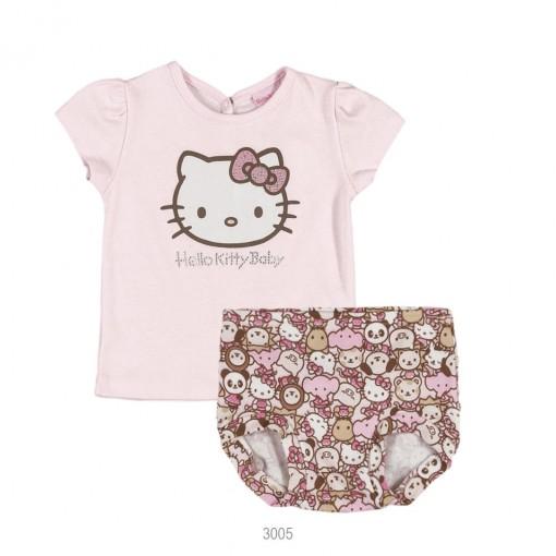 Conjunto Infantil Hello Kitty Blusa + Calcinha 1250.87256