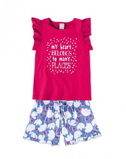 Conjunto Infantil Feminino Hering Kids 5a3dkrh10
