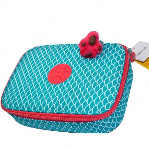 341964495 Bizz Store - Estojo Escolar 100 Pens Kipling Grande Preto/Pink