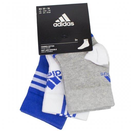 Kit Meias Adidas Infantil Ankle Mid 3 Pares Ay6535