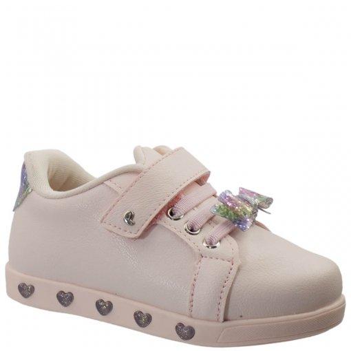 Tênis Infantil Pampili Sneaker Com LED Menina 165.109