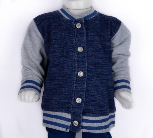 Jaqueta Jeans Moletom Infantil Hering Kids College 54c71a07