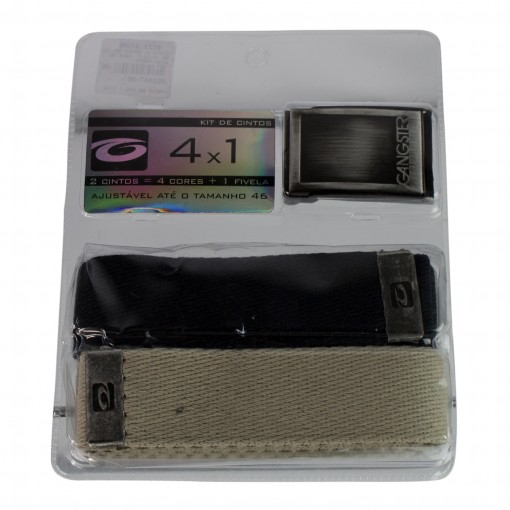 Kit C/ 2 Cintos Gangster Cinto + Fivela 60.16.0001
