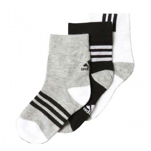 Kit Meia Infantil Adidas Ankle Mid Fun Kids 3 peças Aa2225