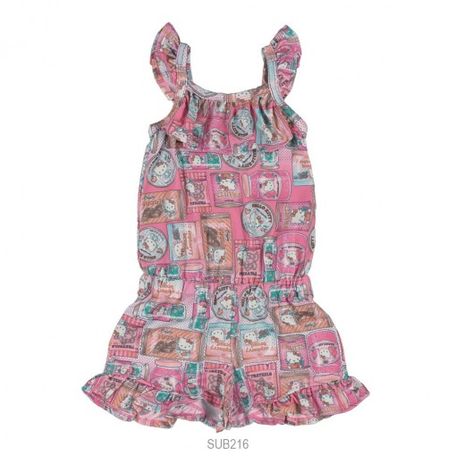Macaquinho Infantil Feminino Hello Kitty Cotton 0812.87316