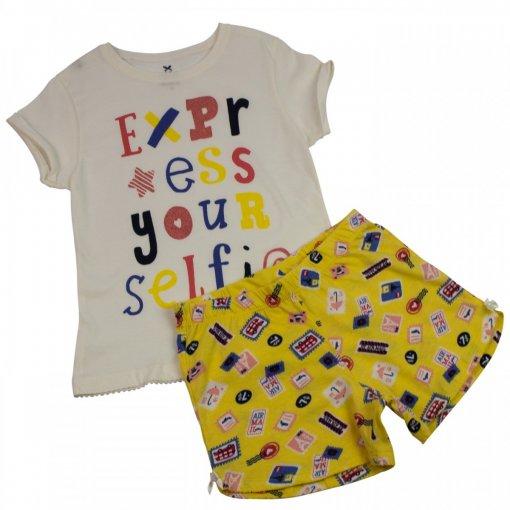 Pijama Curto Infantil Feminino Hering Kids 56pfn0a10