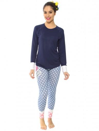 Pijama Feminino Recco Manga Longa 09140