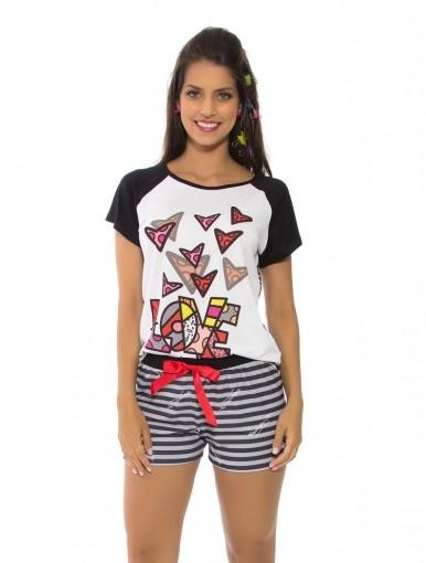 Pijama Femino Recco Curto Verão 09175
