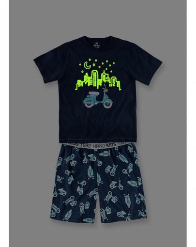 Pijama Infantil Masculino Hering Kids Brilha No Escuro 56mg1x10