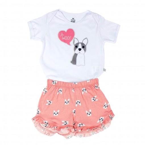 Pijama Infantil Feminino Hering Kids 56nb1d10