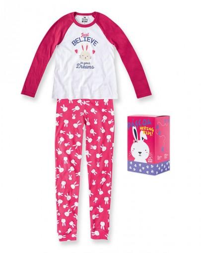 d450e12b8e Bizz Store - Pijama Infantil Menina Hering Kids Brilha No Escuro