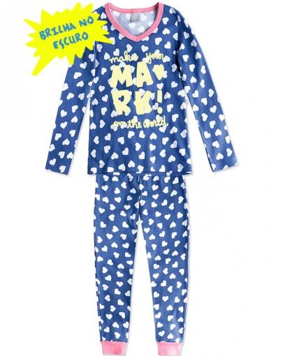 Pijama Infantil Hering Kids Brilha No Escuro 56NF1N10