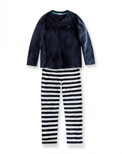 Pijama Infantil Hering Kids Manga Longa Kv3m1dsi