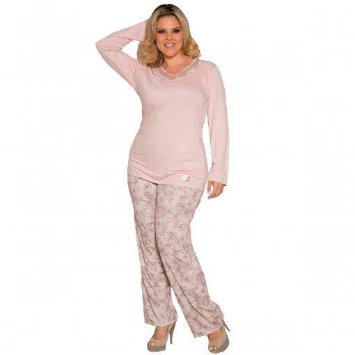 Pijama Manga longa Viscoprint Recco 08370