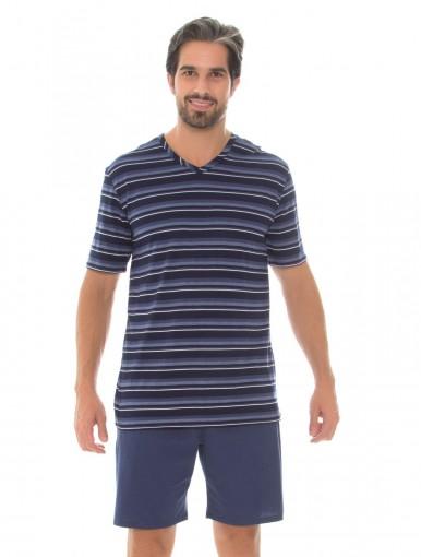 Pijama Masculino Recco Modo Avião Listrado 09504