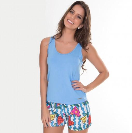 Pijama Regata Viscose e Charmeuse Prim Recco 08629