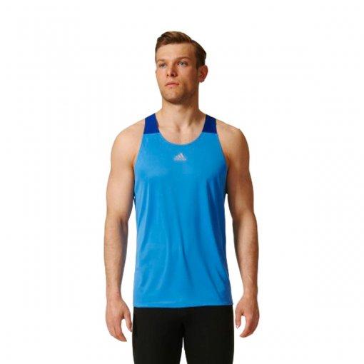 Bizz Store - Regata Masculina Adidas Response Azul Corrida b277683459f