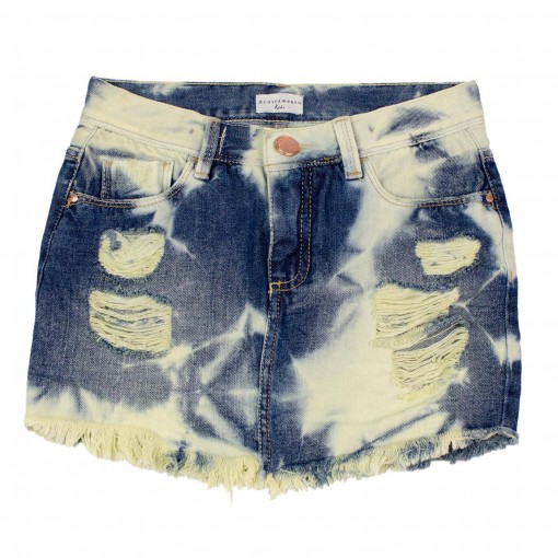 Saia Jeans Infantil Feminina Acostamento Kids 68827054
