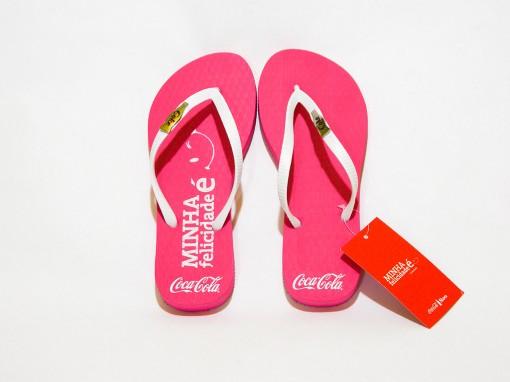 Chinelo Coca-Cola Minha Felicidade É Cc2021