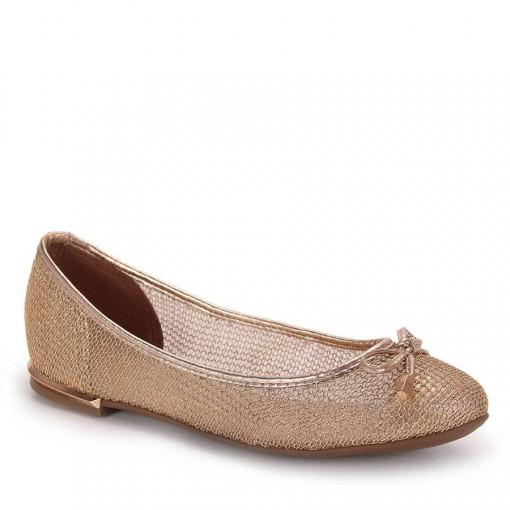 0169f1c47 Bizz Store - Sapatilha Feminina Vizzano Tela Metal Preta/Dourada