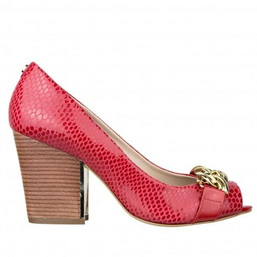 Sapato Feminino Peep Toe Jorge Bischoff J21016009